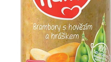6x HAMI Brambory s hovězím a hráškem (250 g) - maso-zeleninový příkrm