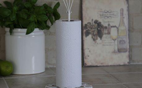 Chic Antique Stojan na kuchyňské utěrky Antique white, bílá barva, kov