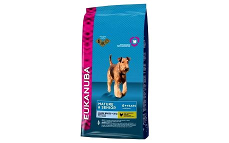 Granule Eukanuba Mature & Senior Large Breed 15 kg + Doprava zdarma
