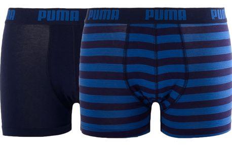 2PACK Pánské Boxerky Puma Striped Blue Long L