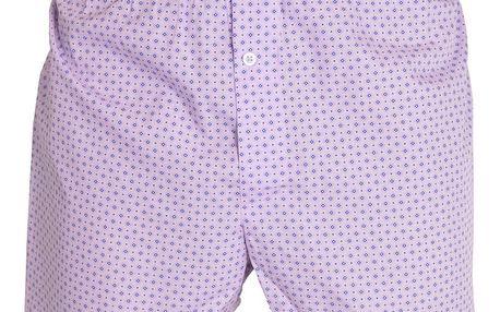 Pánské trenýrky Gosh s fialovými kosočtverci L