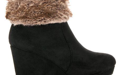 Zimní boty na klínku 0076B 37