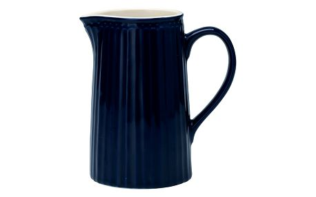 GREEN GATE Porcelánový džbán Alice dark blue 1l, modrá barva, porcelán
