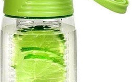 LAFE Sportovní láhev s košíkem na ovoce, 700 ml (Zelená)
