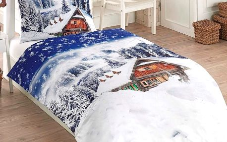 Bade Home 3D povlečení Zima 140 x 200 cm 70 x 90 cm.