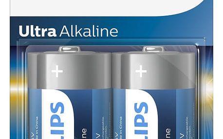 Philips D ExtremeLife+, alkalická - 2ks - LR20E2B/10