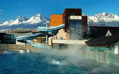 Hotel AquaCity Mountain View****, Poprad, Slovensko - save 38%, 4* luxus v akvaparku s polopenzí a wellness