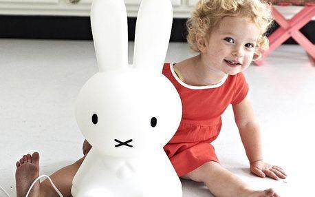 Mr Maria Dětská králičí LED lampa Miffy S, černá barva, bílá barva, plast