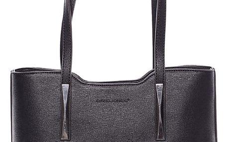 Dámská kabelka přes rameno černá saffiano - David Jones Yetta černá