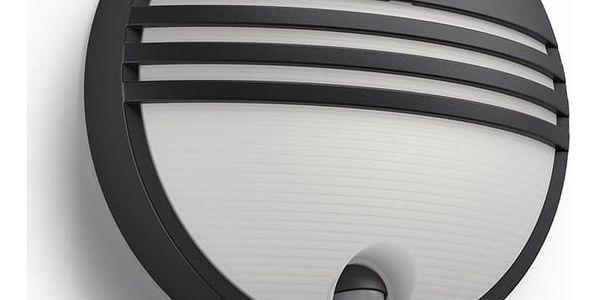 LED venkovní nástěnné svítidlo s pohybovým čidlem Philips YARROW 17297/30/16 - černá