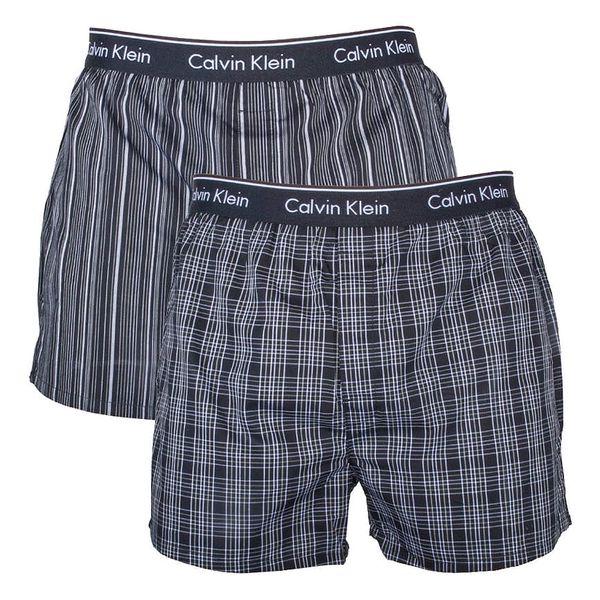 2PACK pánské trenýrky Calvin Klein Classic Fit černá M