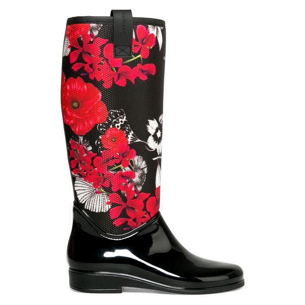 Desigual černé holínky Rainy Boot BN&Red