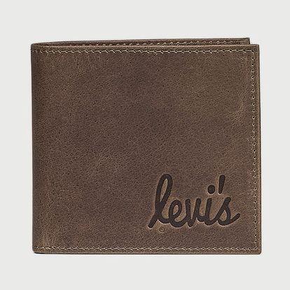 Peněženka LEVI'S Cursive Bi-Fold Hnědá