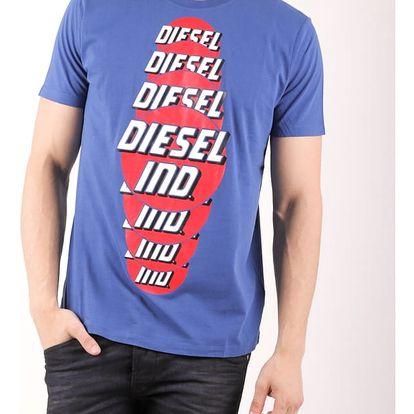 Tričko Diesel T-PALAGIA MAGLIETTA Modrá