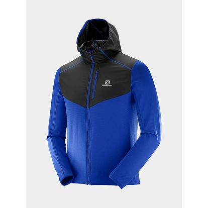 Bunda Salomon DISCOVERY WIND HOODIE M Surf The Web/BK Modrá