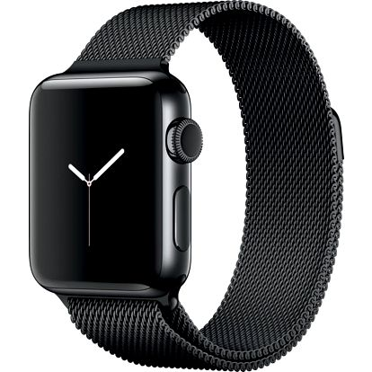 Apple Watch 2 38mm Space Black Stainless Steel Case with Space Black Milanese Loop - MNPE2CN/A