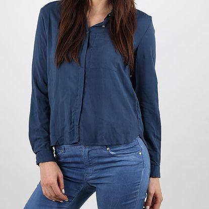 Košile Alcott SOLID COLOR SHIRT Modrá