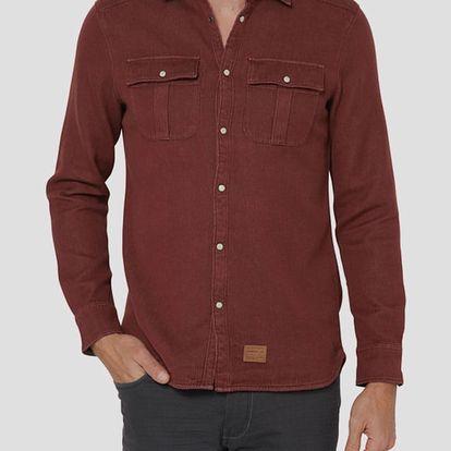 Košile O´Neill LM VIOLATOR SOLID FLANNEL Červená