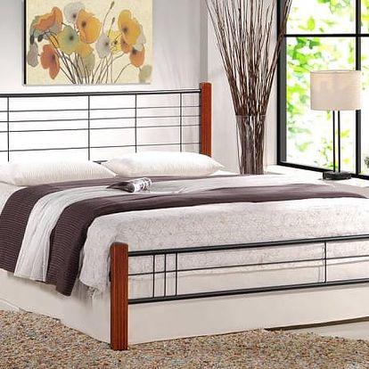 Vera - Postel 200x160, rám postele, rošt (antická třešeň, černá)