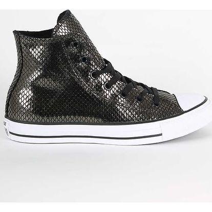 Boty Converse Chuck Taylor All Star HI Metallic Snake Leather Černá