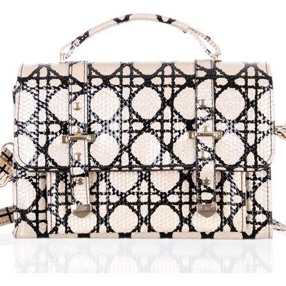Fashion Icon Dámská kabelka Stella McStyle lakovaná kufr kostkovaný
