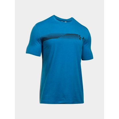 Tričko Under Armour Heatgear Fast Left Chest SS T Modrá