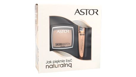 ASTOR Lash Beautifier With Argan Oil dárková kazeta pro ženy řasenka Lash Beautifier 10 ml + pudr Skin Match 7 g 100 Ivory