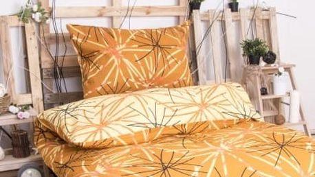 XPOSE ® Krepové povlečení SOFIA DUO - oranžová 140x200, 70x90