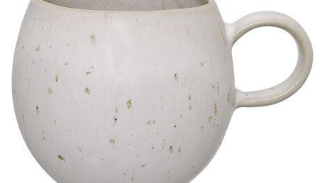 Bloomingville Keramický hrneček Sandrine Matte Offwhite - menší, béžová barva, bílá barva, krémová barva, keramika