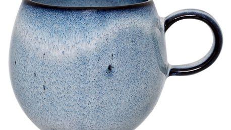 Bloomingville Keramický hrneček Sandrine Blue - menší, modrá barva, keramika