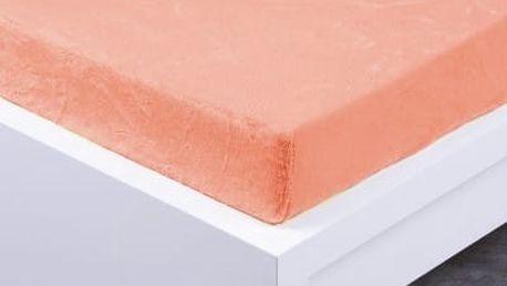 XPOSE ® Prostěradlo mikroflanel Exclusive dvoulůžko - lososová 180x200 cm