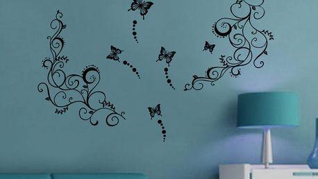Dekor s motýlky 70 x 50 cm