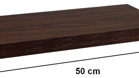 STILISTA 31049 Nástěnná police VOLATO - tmavé dřevo 50 cm