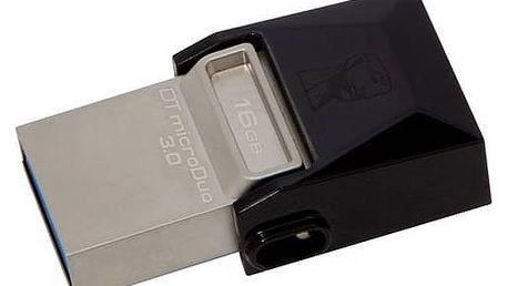 USB Flash Kingston DataTraveler Micro Duo 3.0 16GB OTG (DTDUO3/16GB) černý + Doprava zdarma