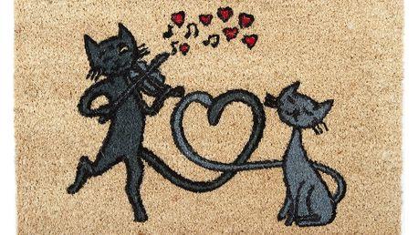 Trade Concept Kokosová rohožka Kočky ve městě, 40 x 60 cm