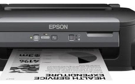 EPSON tiskárna ink WorkForce M100, CIS, A4, 34ppm,ČB1ink,USB,NET