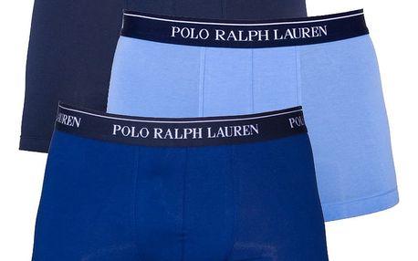 3PACK pánské boxerky Ralph Lauren modrá edice L