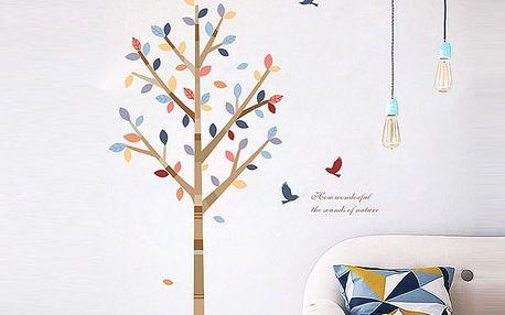 Strom s barevnými listy 105 x 120 cm