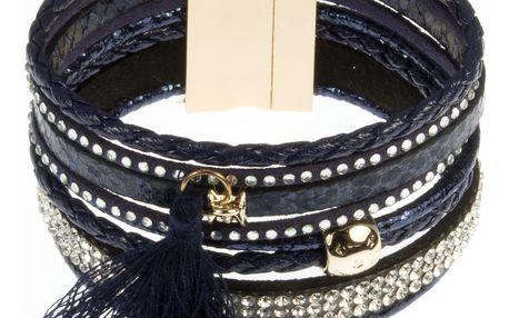 Fashion Icon Náramek Crystal snake s hadím motivem a krystalky