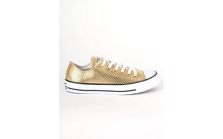 Boty Converse Chuck Taylor All Star OX Metallic Snake Leather Zlatá