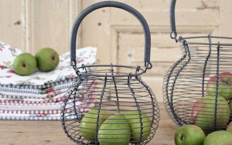Krasilnikoff Kovový košík small, šedá barva, kov
