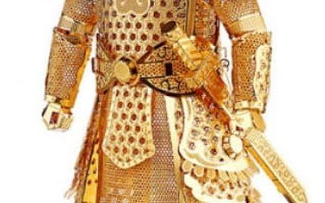 3D kovové puzzle model Samuraj