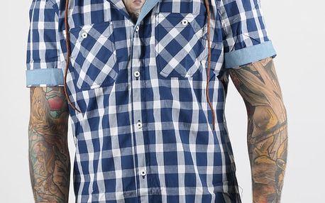 Košile Alcott SOLID COLOUR WITH PRINT Modrá