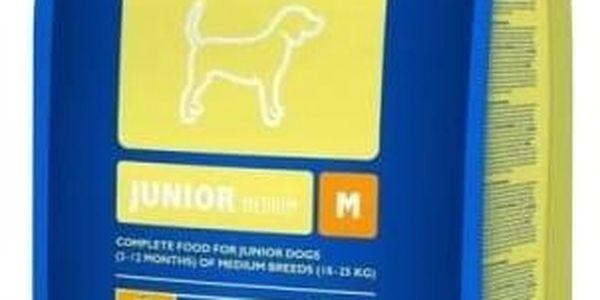 Granule Brit Premium Dog Junior M 15 kg + 3 kg ZDARMA + Doprava zdarma