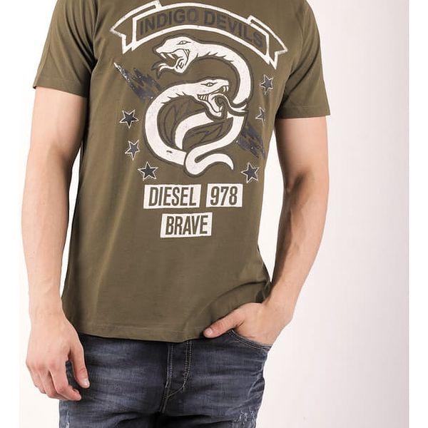 Tričko Diesel T-NEWYN MAGLIETTA Zelená