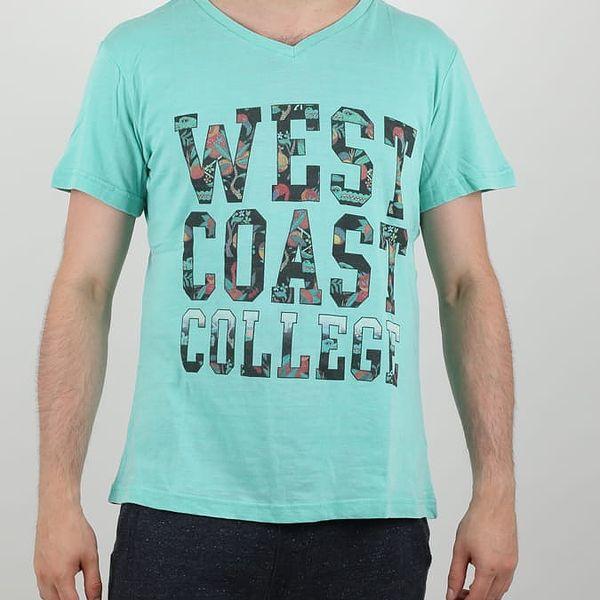 Tričko Alcott SCOLLO V CON STAMPA Zelená