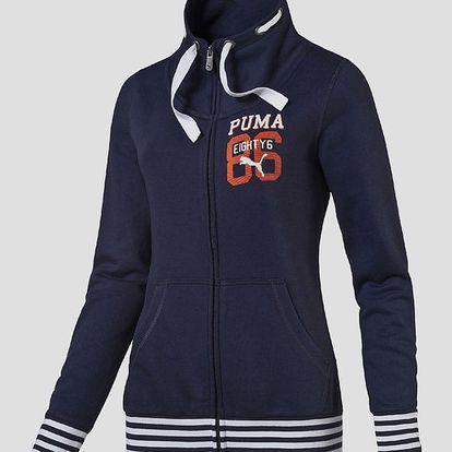 Mikina Puma STYLE ATHL Sweat Jacket W peacoat Modrá