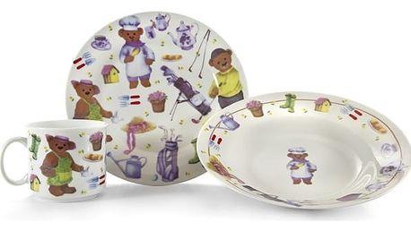 Dětská jídelní sada 3dílná Medvídci, BANQUET