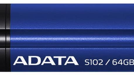 ADATA Superior S102 Pro 64GB, titanová modrá - AS102P-64G-RBL