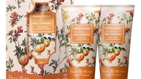 Frais Monde Pomegranate Flowers dárková kazeta pro ženy tělový krém 200 ml + pěna do koupele 200 ml